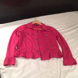 Baccini stretchy hot pink jacket